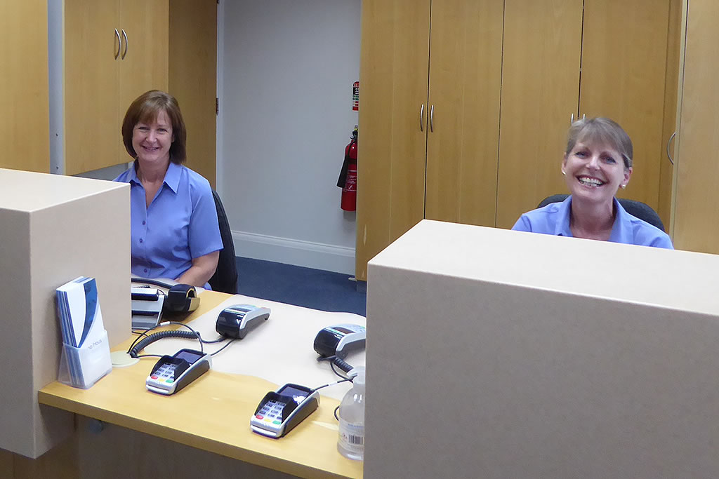 Image of our friendly dental receptionists